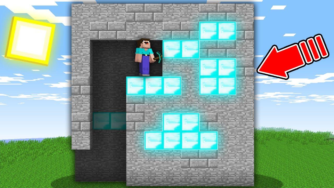 Minecraft, HOW NOOB GO THROUGH THIS MAZE IN MEGA DIAMOND BLOCK TO GET TREASURE! 100% trolling