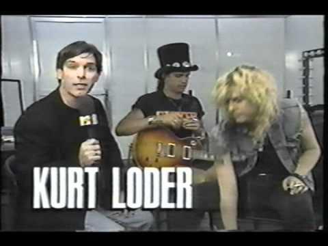 Slash gets loaded with kurt loader 1991 rock in rio 2.wmv