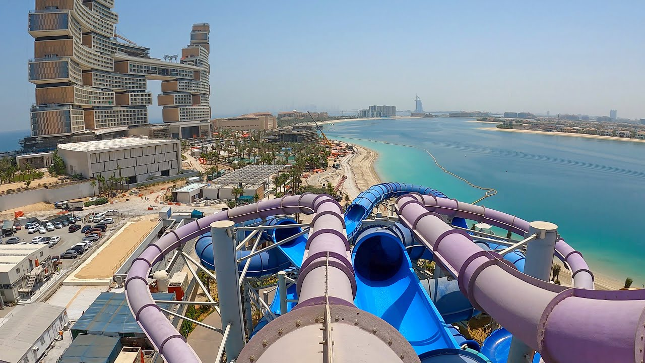 Black Out Water Slide at Aquaventure Atlantis Dubai