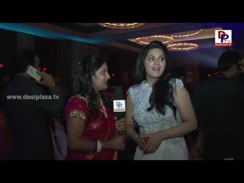 Tollywood Actress Rachna Maurya speaking to Desiplaza TV at NATA Convention Banquet 2016