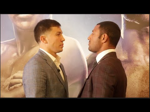 GENNADY GOLOVKIN v KELL BROOK - OFFICIAL HEAD TO HEAD @ LONDON PRESS CONFERENCE / GGG v BROOK