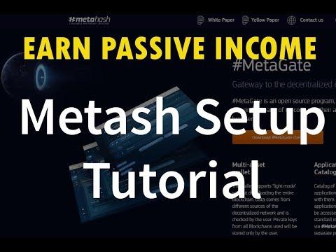 Earn passive income: Metahash Wallet setup tutorial start earning