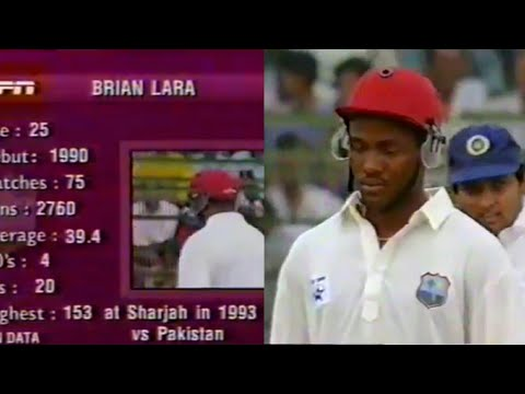 Brian Lara Classic 89 Knock Against India | 1994
