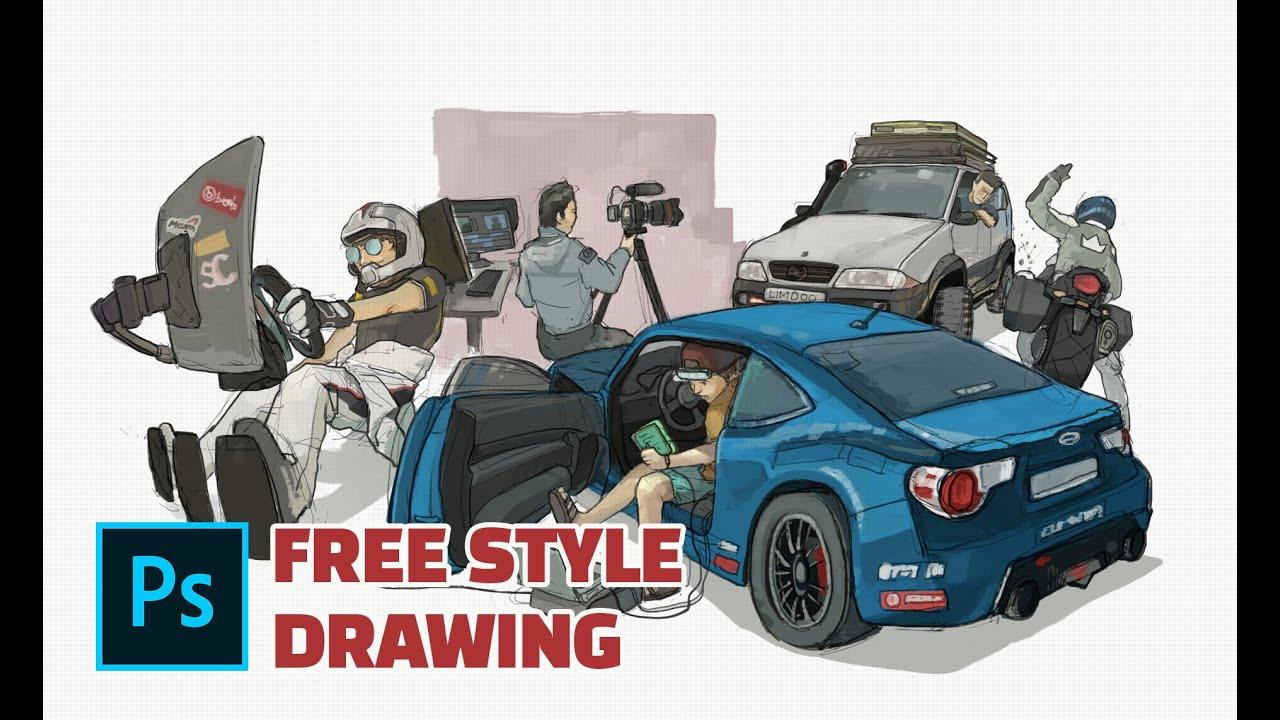 'Fun Hobbies for Men' Free Drawing Time-Lapse | PCS