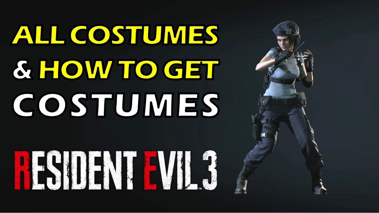 Re3 All Costumes And How To Unlock Costumes Resident Evil 3