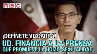 #ElEditorialDelDía DEFÍNETE VIZCARRA!!! UD. FINANCIA A LA PRENSA QUE PROMUEVE LA HOMOSEXUALIDAD???