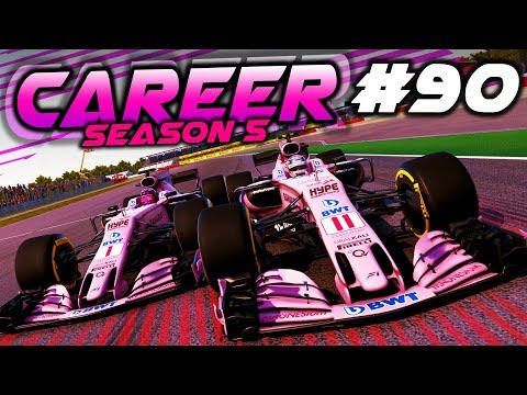 HUGE RACE LONG SCRAP WITH TEAM-MATE - F1 2017 Career Mode Part 90
