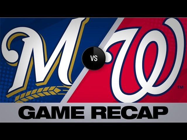 Homers push Nationals in 16-8 win | Brewers-Nationals Game Highlights 8/18/19