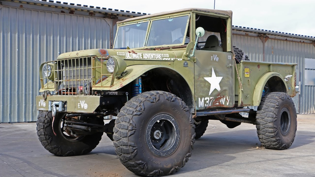 Lifted Dodge Power Wagon >> Mel Wade's 1951 M37 Dodge Power Wagon - YouTube