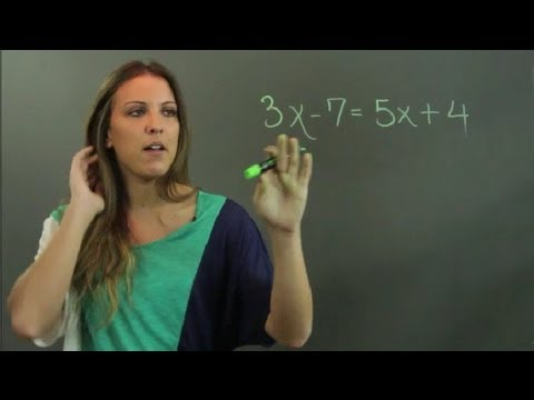 How To Solve Linear Equations With Variables On Both Sides Linear Alge Education