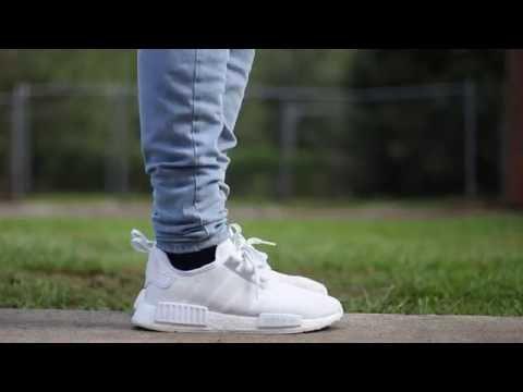 Adidas Nmd Triple White On Feet