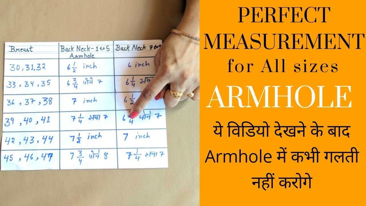ba187cca979c Perfect measurements for armhole