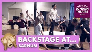 In rehearsal: Barnum at Menier Chocolate Factory