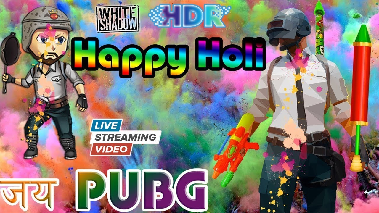 HAPPY HOLI TO ALL MY SUBSCRIBERS FAMILY [ LiVE  STREAM ] - PUBG MOBILE - Asus ROG Phone 2
