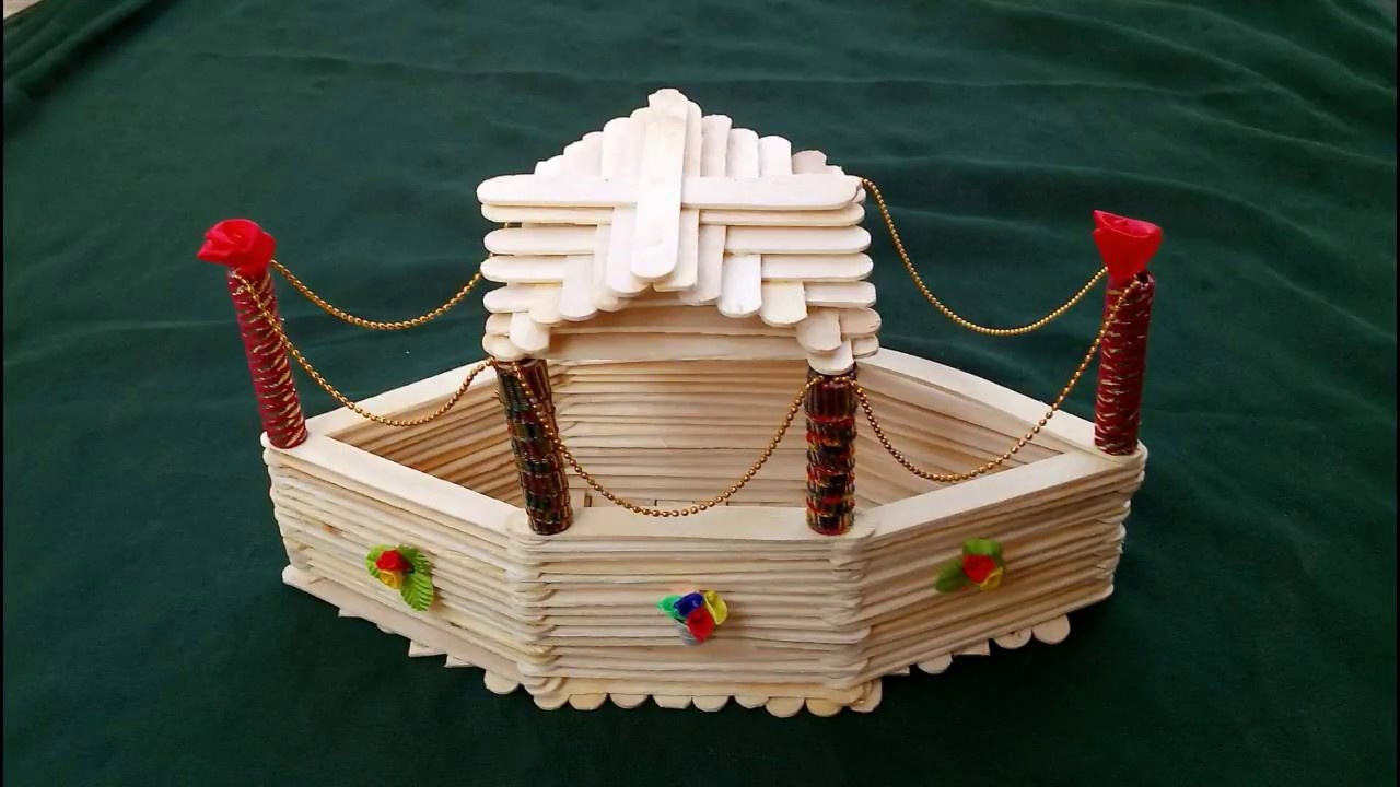 HOW TO MAKE BOAT FROM POPSICLE STICKS \\ BOAT FROM ICE CREAM STICKS