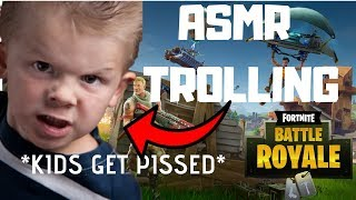 Trolling People with ASMR on FORTNITE! (Russian gets pissed)*Hilarious Reactions*