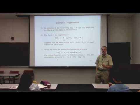 "Kenneth Lange: ""MM Algorithms"""