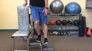 A more advanced exercise for leg stability: StepSide