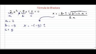 Aprenda a resolver a Equação de BHASKARA