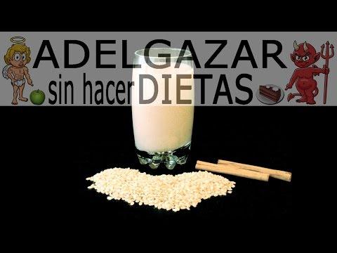 LECHE DE ARROZ # ADELGAZAR SIN HACER DIETAS