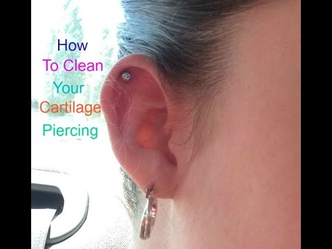 How To Clean Your Cartilage Piercing Youtube