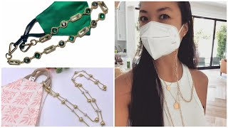Stylish fashionable DIY mask chain accessories ideas