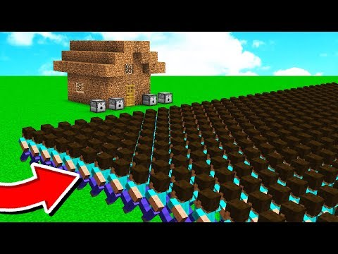 1,000 FANS vs WORLDS WORST MINECRAFT HOUSE!