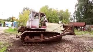 Заводим бульдозер Т-100, после  простоя / Трактор Т-100 Фильм