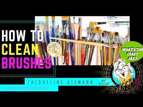 How To Clean And Preserve Your Paint Brushes