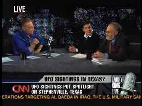 UFO Stephenville Texas on LARRY KING LIVE!!! JAN 18th (1/4)