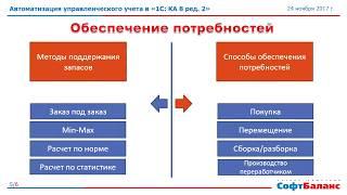 видео 1С:Комплексная автоматизация 8