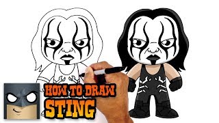 How to Draw Sting | WWE