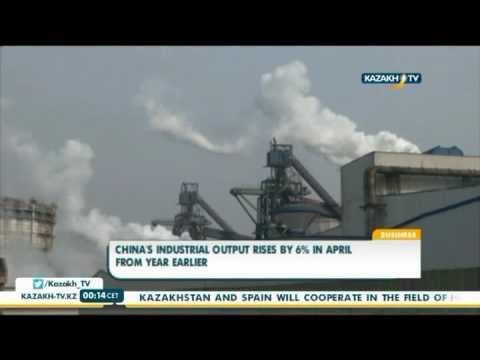 China's industrial output rises by 6% in April from year earlier - Kazakh Tv