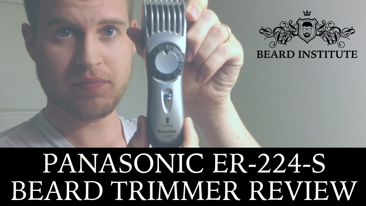 panasonic er224s beard trimmer review w actual demonstration youtube. Black Bedroom Furniture Sets. Home Design Ideas
