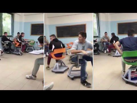 Banchi a rotelle come autoscontro: video diventa caso politico, Salvini lo condivide, pero'........