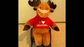 Dan Dee Animated Rocking Chair Moose (new Camera)