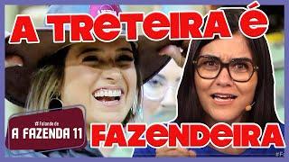 🐔A FAZENDA 11: Tati treta com Andréa e pede chapéu para Diego   PROVA do FAZENDEIRO