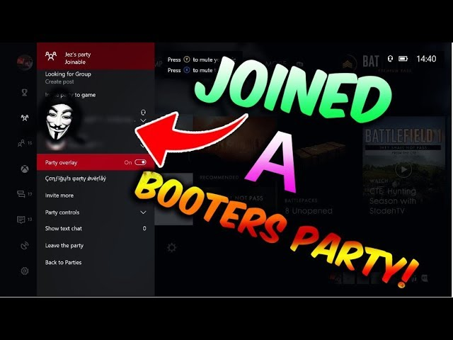 So I Joined A Booter S Xbox Live Party Youtube