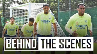 Gabriel and Ceballos join the squad | Behind the scenes at Arsenal training centre