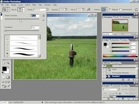 удаление не нужных фрагментов изображения Аdobe Photoshop ...