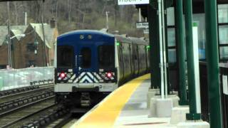 Metro-North and Amtrak Railroad action at Scarborough, NY