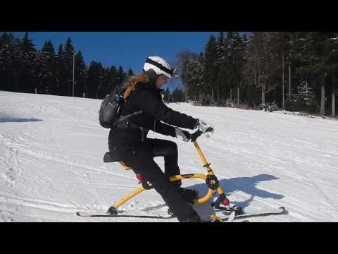 Travel Video - Snow Biking downhill in Thuringen, Germany - Wintersport