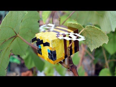 КАК СДЕЛАТЬ ПЧЕЛУ ИЗ МАЙНКРАФТ БЕЗ ПРИНТЕРА #minecraft #DIY #майнкрафт