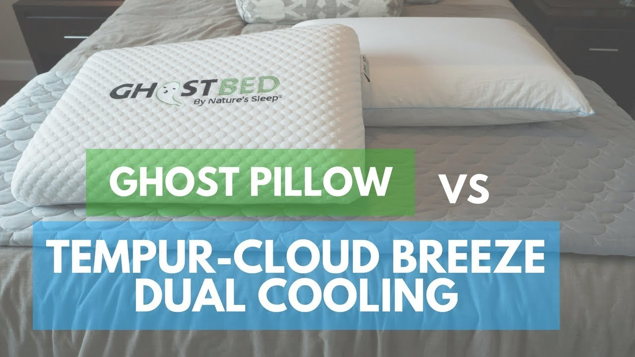 pillow reviews ghostpillow vs tempur cloud breeze dual cooling