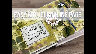 Easy Mixed Media Art Journal Page & Garden Kit Demo