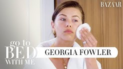 Top Model Georgia Fowler's Nighttime Skincare Routine For Normal Skin | Go To Bed With Me | BAZAAR