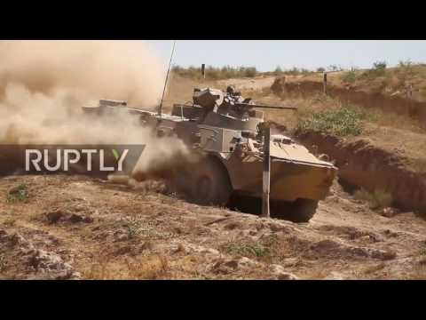 Tajikistan: Russian military tests new BTR Armoured Personnel Carrier in Dushanbe