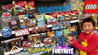 HUNTING AT WALMART FOR ALL THE NEWEST TOYS!! POKEMON CARDS, FORTNITE, LEGOS, CARS, OVERWATCH & MORE!