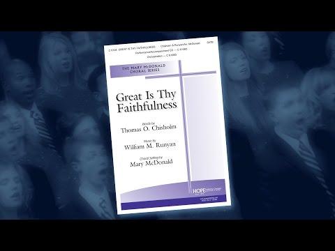 Great Is Thy Faithfulness - arr. Mary McDonald