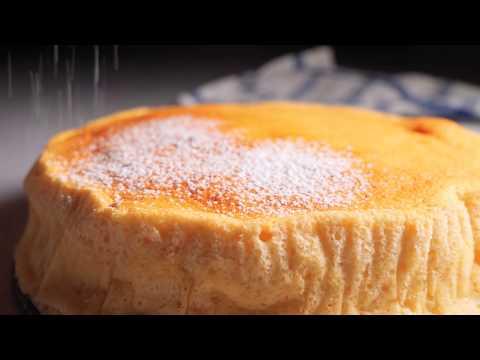 Light & Fluffy Yogurt Soufflé Cake